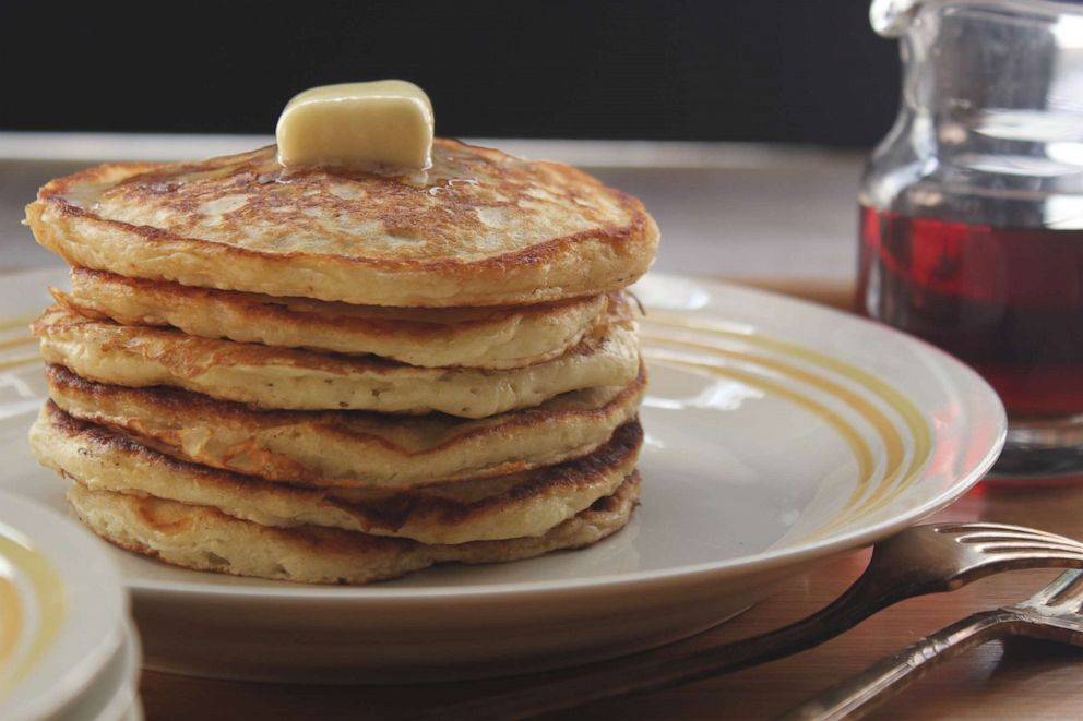 PHOTO: Classic buttermilk pancakes from Emeril Lagasse are a classic breakfast to make on Mothers Day.