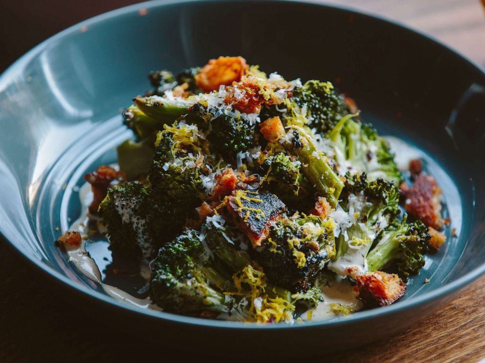 PHOTO: Grilled broccoli Caeser salad from Fox and the Knife in Boston.