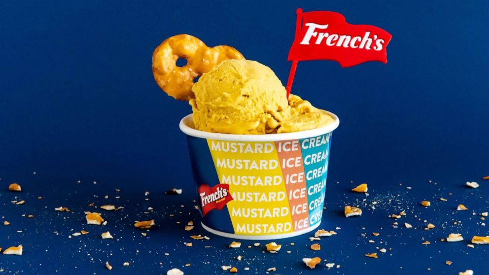 PHOTO: Frenchs collaborated with Coolhaus to develop a yellow mustard ice cream.