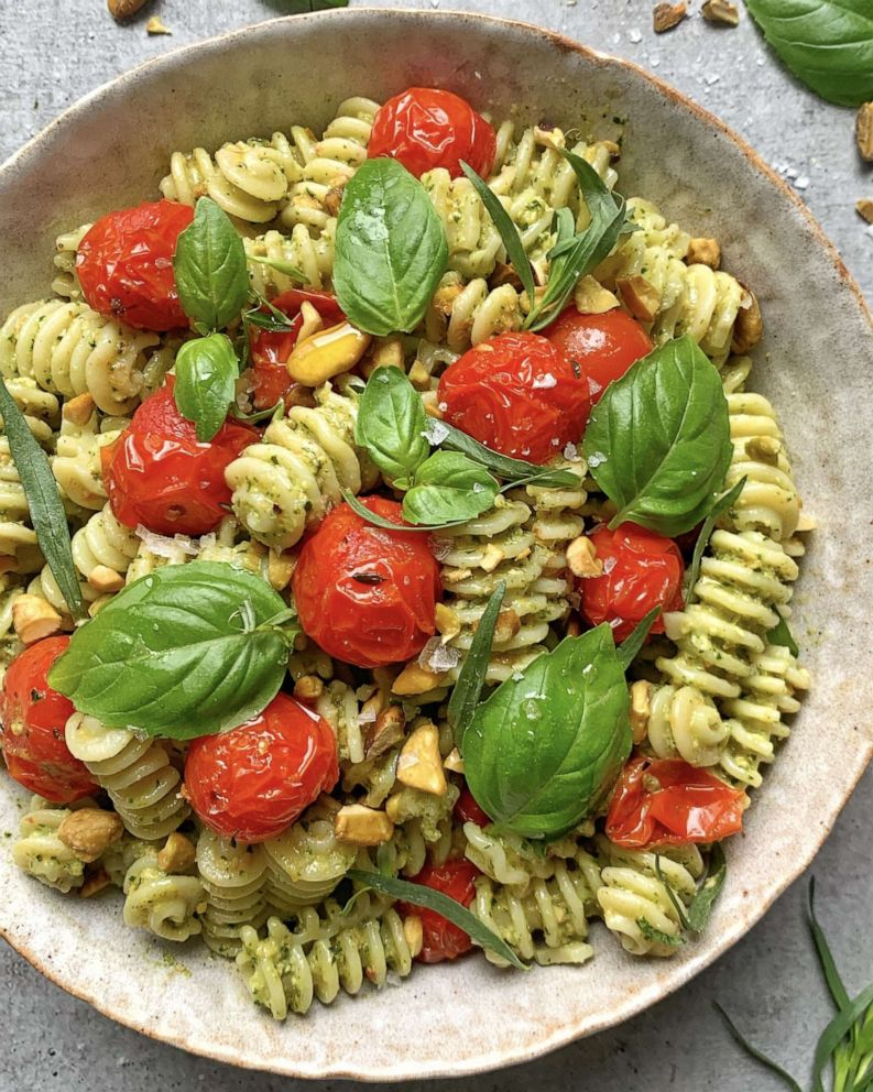 PHOTO: Roasted tomato and pistachio pesto pasta salad from The Feed Feed.