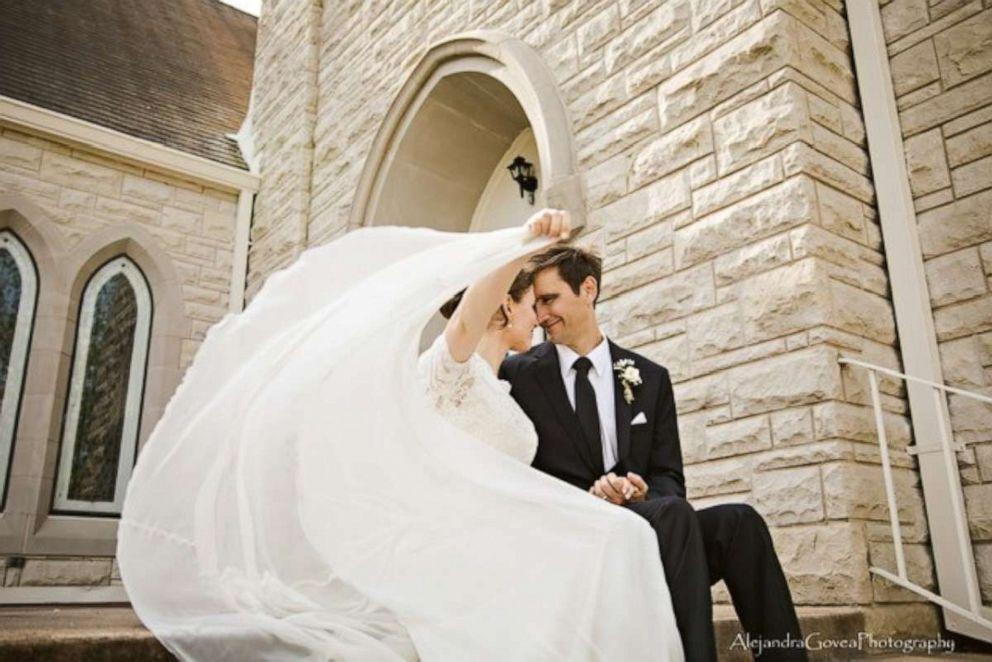 PHOTO: Jeremy and Gosia Hoyle on their wedding day in Austin, Texas.