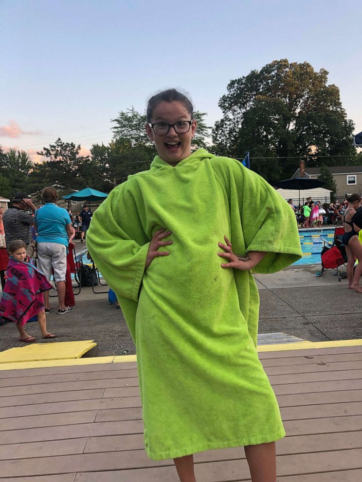 PHOTO: Grace Largent at a swim meet in Ohio on June 25, 2019.