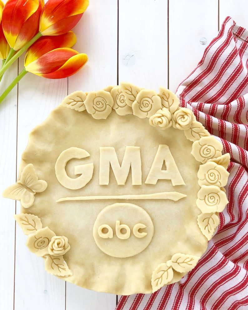 "Marie Saba made a homemade pie crust for ""Good Morning America"" in honor of Pi Day."