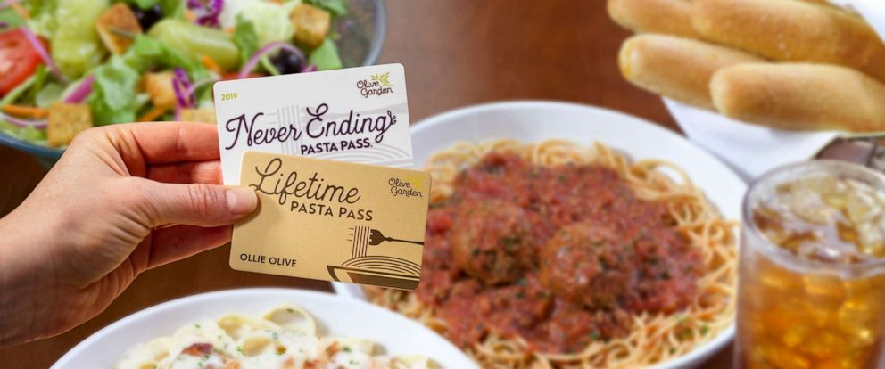 PHOTO: Olive Garden announced it will sell 50 lifetime pasta passes.