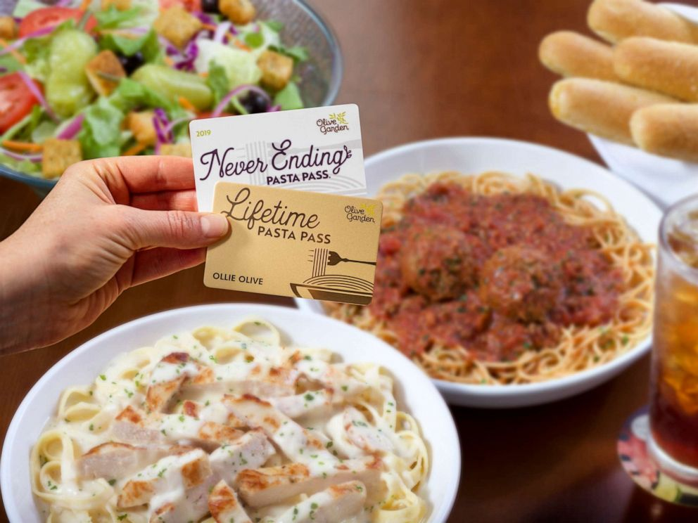 Olive Garden to offer a lifetime version of its pasta pass