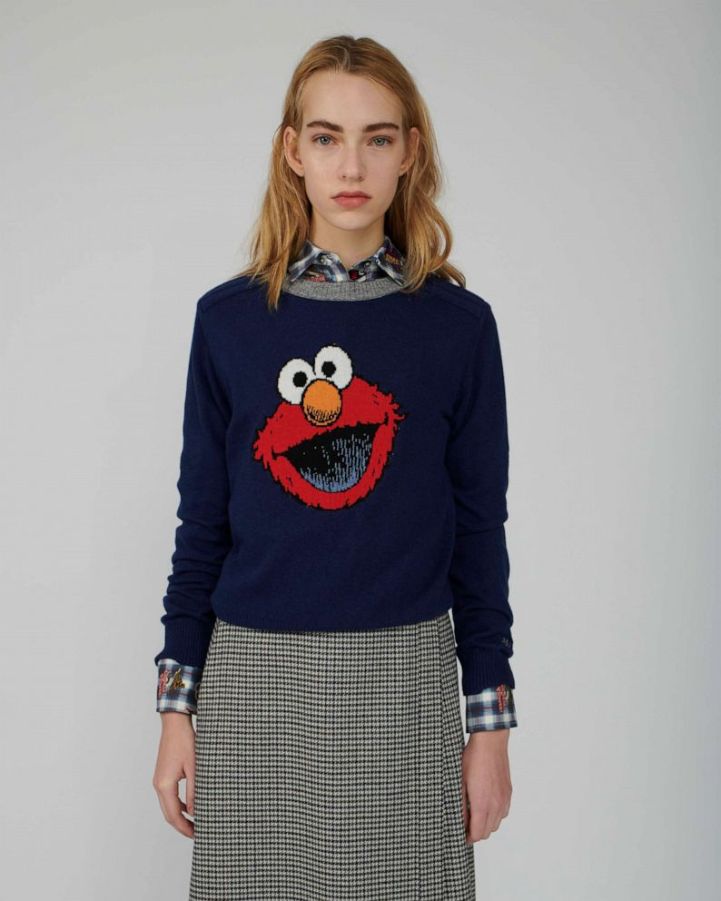 PHOTO: Paul & Joe Sister created an Elmo sweater for a new Sesame Street collaboration.