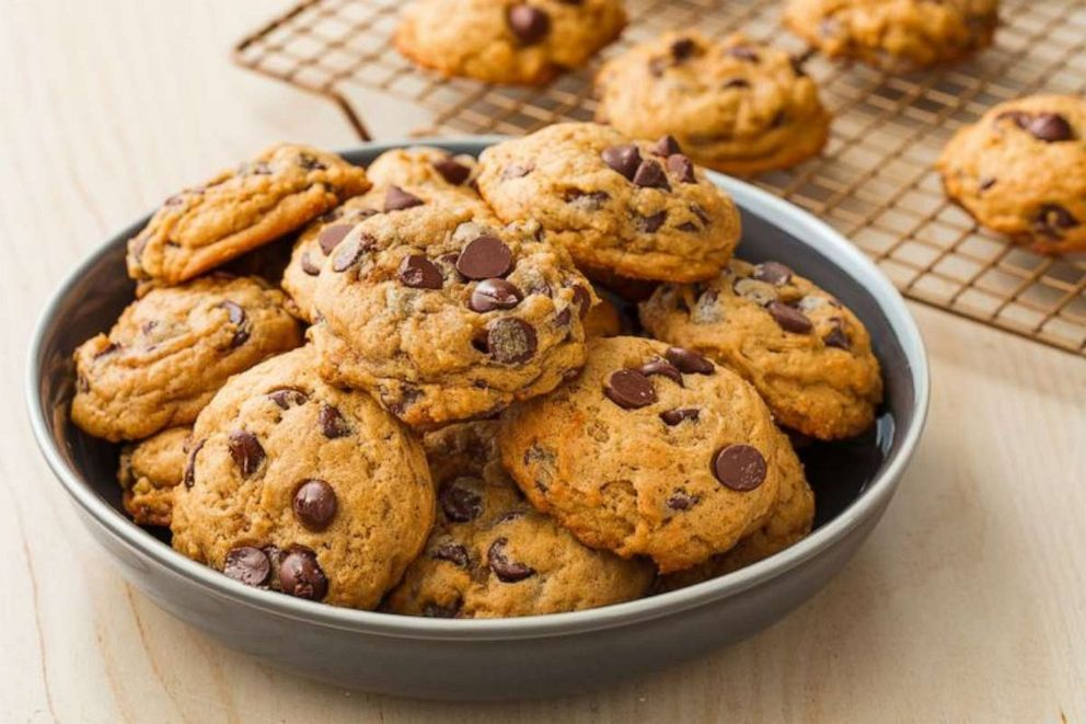 PHOTO: Pumpkin chocolate chip cookies from Delishs new cookbook Delish Insane Sweets: Bake Yourself a Little Crazy.