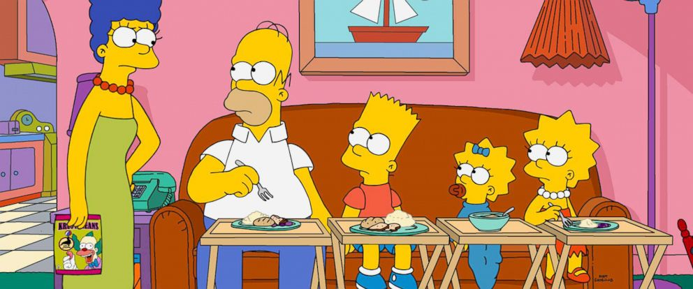 PHOTO: The Simpsons are pictured in a promotional image from 2016.