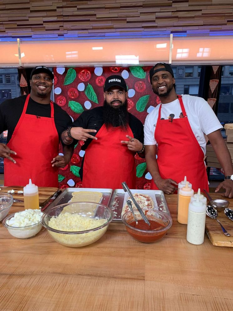 PHOTO: Clint Gray, EJ Reed and Derrick Moore from Slim and Huskys Pizza in Nashville.