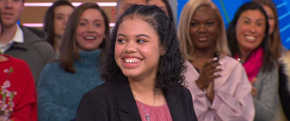 "PHOTO: Haley Taylor Schlitz a 16-year-old who was accepted to nine law schools talks to ""Good Morning America,"" about her achievements in academics at such a young age."