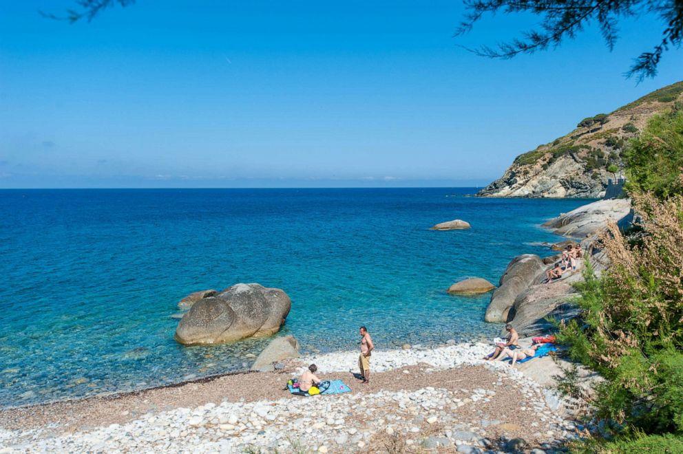 PHOTO: Beach at Hotel Sardi, Portoferraio.