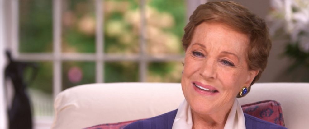 """PHOTO: Actress and singer Julie Andrews talks to Diane Sawyer about her new memoir """"Home Work: A Memoir of My Hollywood Years."""""""