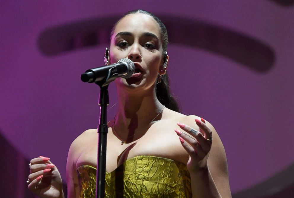 """Jorja Smith performs onstage during Spotify """"Best New Artist 2019"""" party, Feb. 7, 2019, in Los Angeles."""