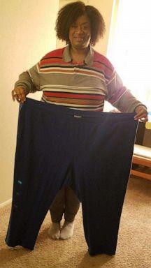PHOTO: Keasha Hawkins on November 28, 2018 after she had lost 190-pounds.