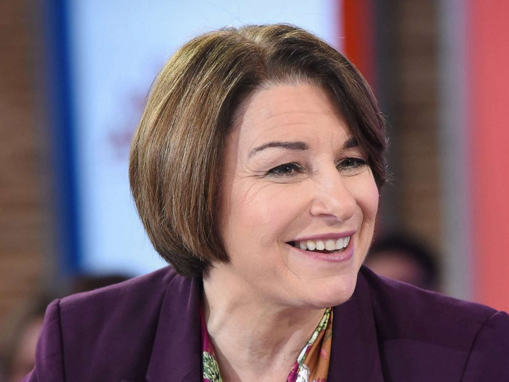 PHOTO: Sen. Amy Klobuchar appears on ABCs Good Morning America, after announcing her candidacy for U.S. president, Feb. 11, 2019.