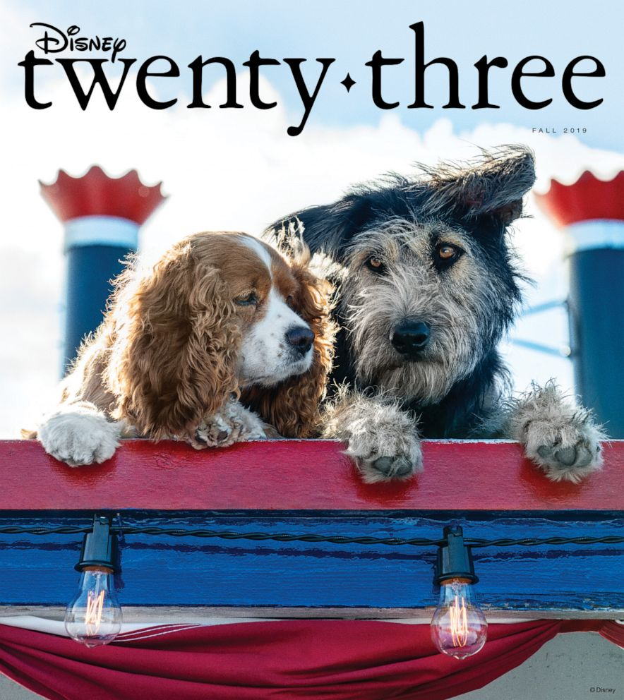 PHOTO: Live-action Lady and the Tramp paws its way onto the cover of Disney Twenty-Three magazine.