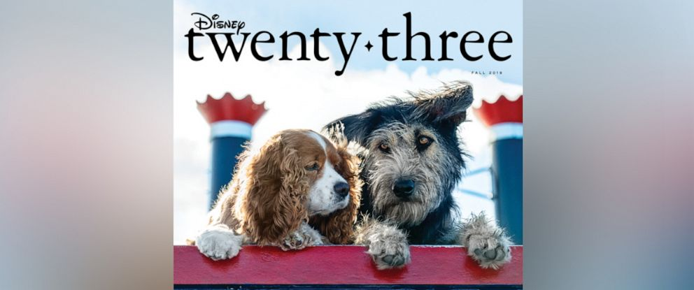 "PHOTO: Live-action ""Lady and the Tramp"" paws its way onto the cover of Disney Twenty-Three magazine."