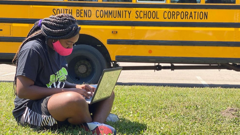 Indiana school district's Wi-Fi buses ease virtual learning for students at home