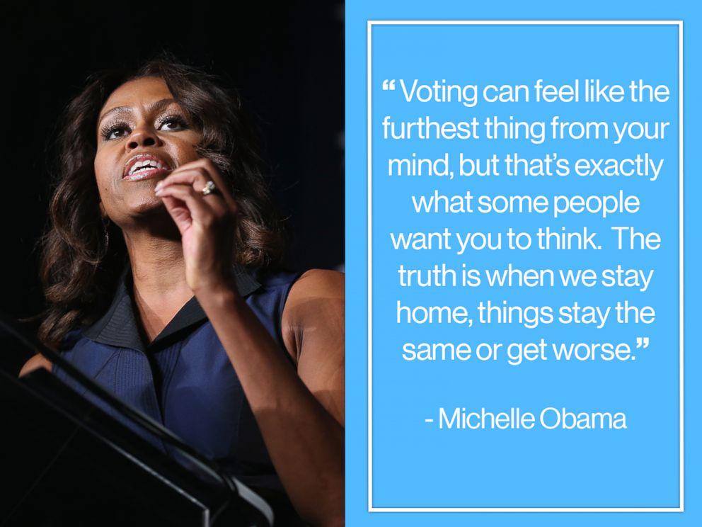 Make Your Voice Heard: Michelle Obama Quote
