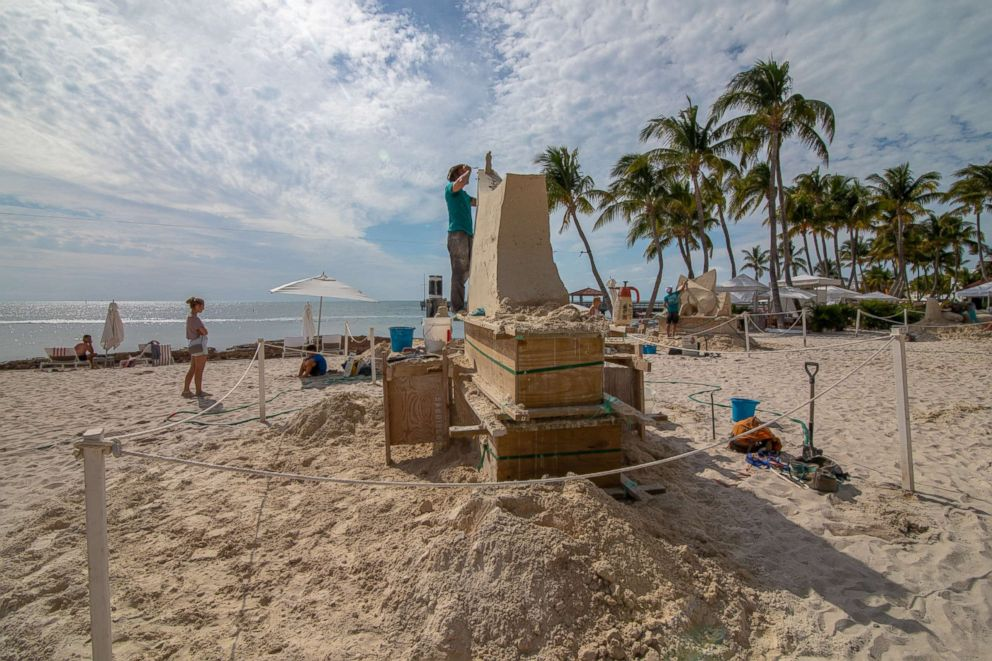 PHOTO: Marianne van den Broek teaches sand sculpting at resort in Key West.