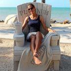 Marianne van den Broek teaches sand sculpting at a resort in Key West.