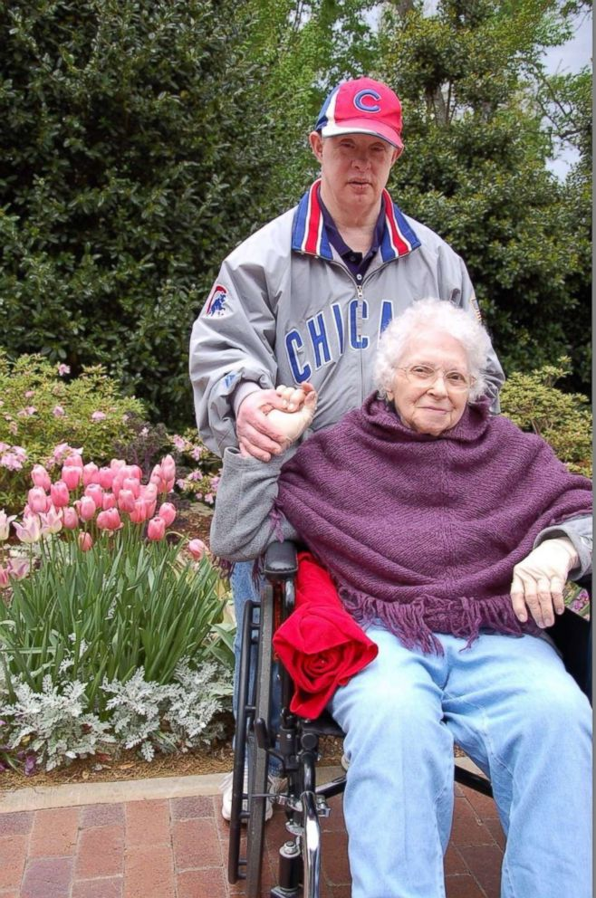 PHOTO: Michael Nawrocki and his mom.