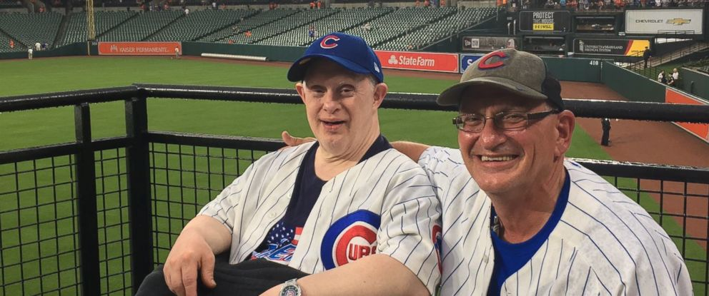 PHOTO: Michael Nawrocki was a Cubs fan. Hes pictured here with his brother, Stephen Nawrocki.
