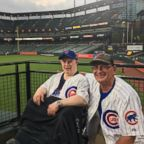Michael Nawrocki was a Cubs fan. He's pictured here with his brother, Stephen Nawrocki.
