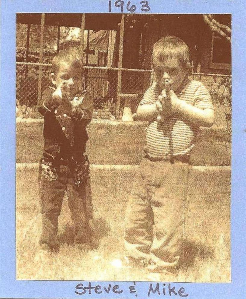 PHOTO: Michael and Stephen Nawrocki as children.
