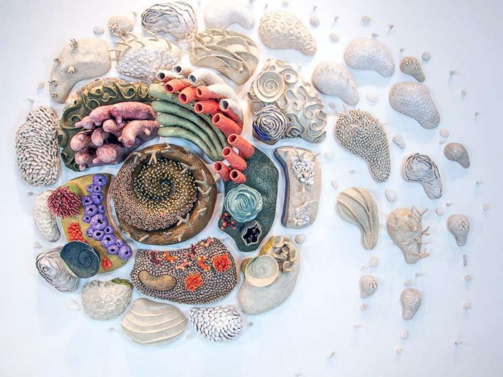 PHOTO: Afterglow (Our Changing Seas VI) by sculptor Courtney Mattison.