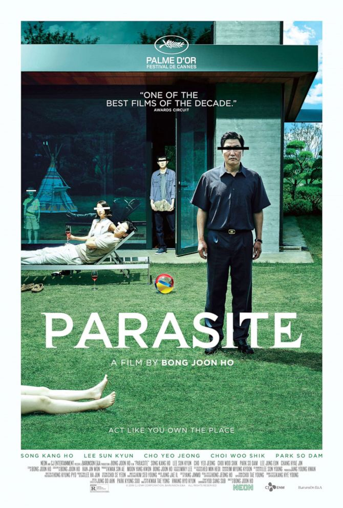 A poster for the movie, 'Parasite.' A poster for the movie, 'Parasite.'NEON