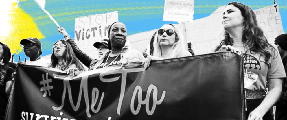 PHOTO: Brenda Gutierrez, Frances Fisher and Tarana Burke seen at Take Back The Workplace March And #MeToo Survivors March & Rally, Nov. 12, 2017, in Hollywood, Calif.