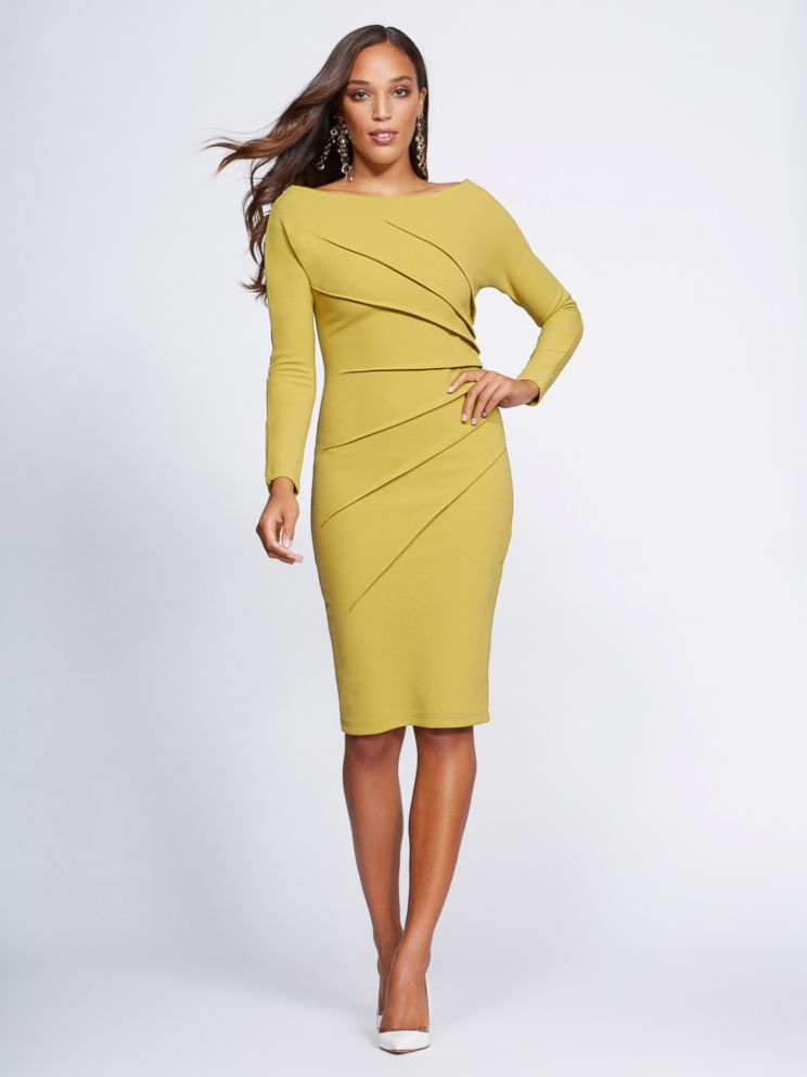 PHOTO: The Off-the-Shoulder Sheath Dress from Gabrielle Unions NY & Co. collection.