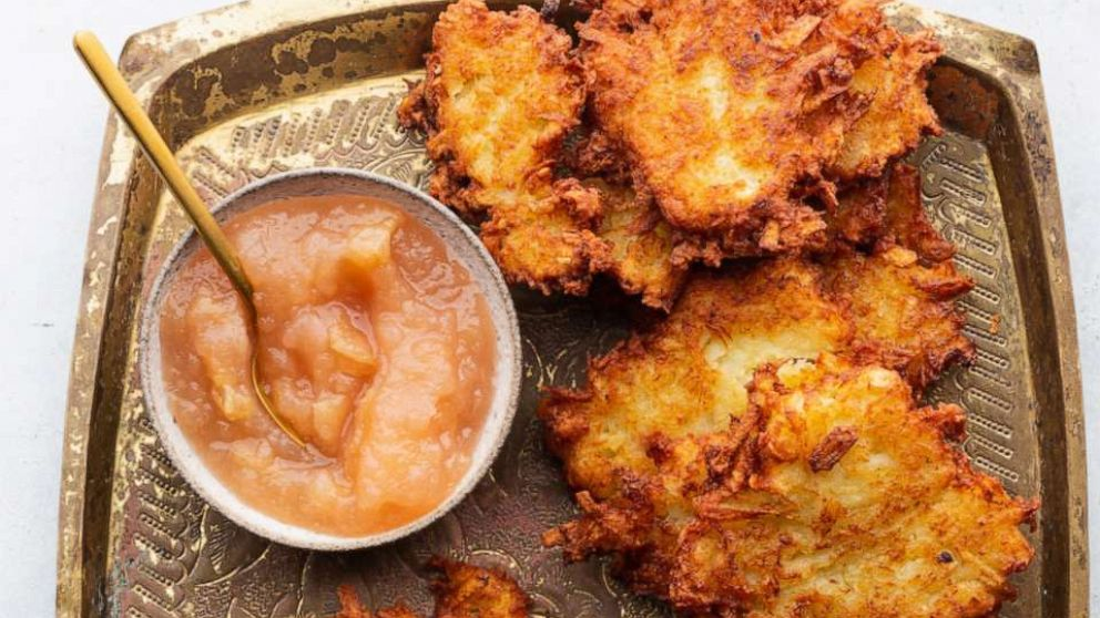 PHOTO: Potato Latkes by chef Danielle Renov.