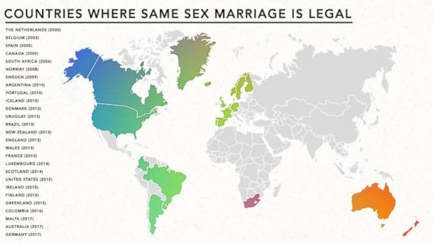Here are the 27 countries where same- marriage is officially ... States With Legal Marriage Map on