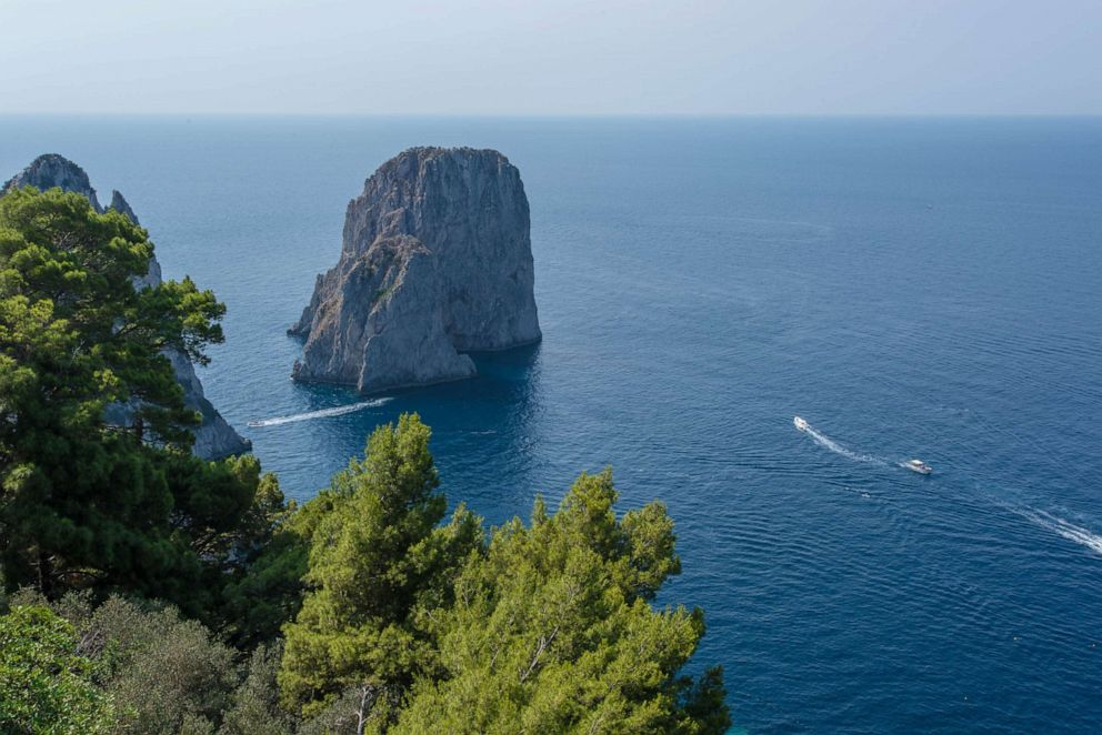 PHOTO: View from Punta Tragara, Capri.