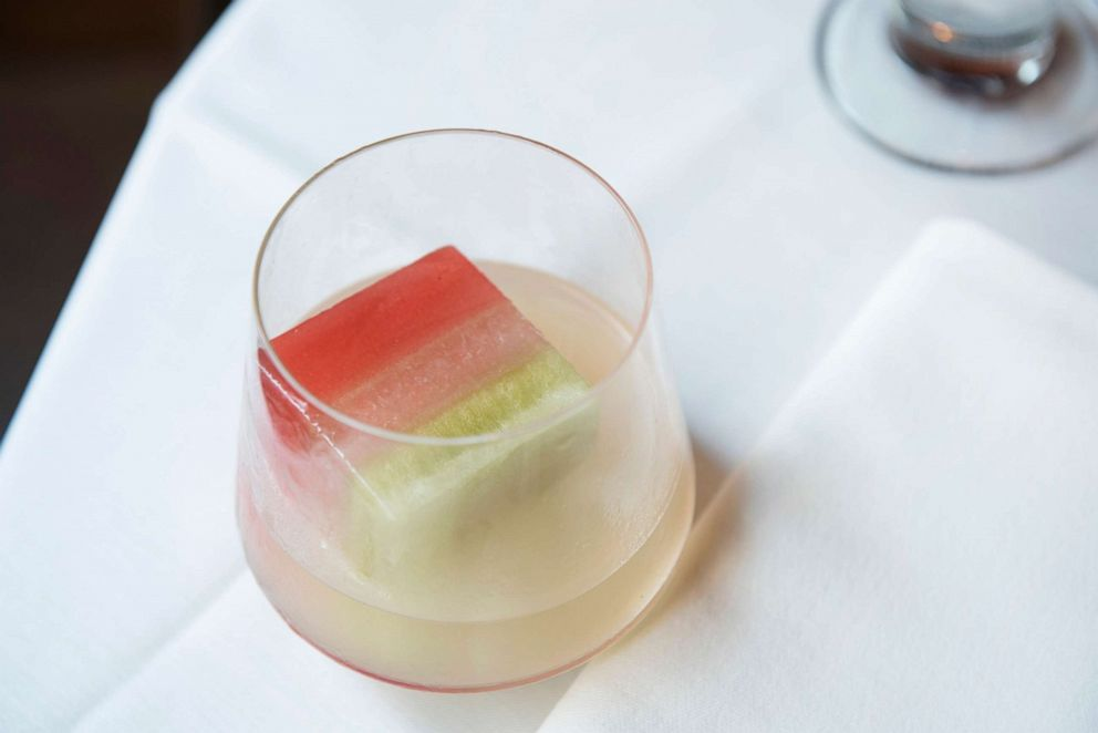 PHOTO: The Tricolore Margarita is meant to represent both the Mexican and Italian flags.