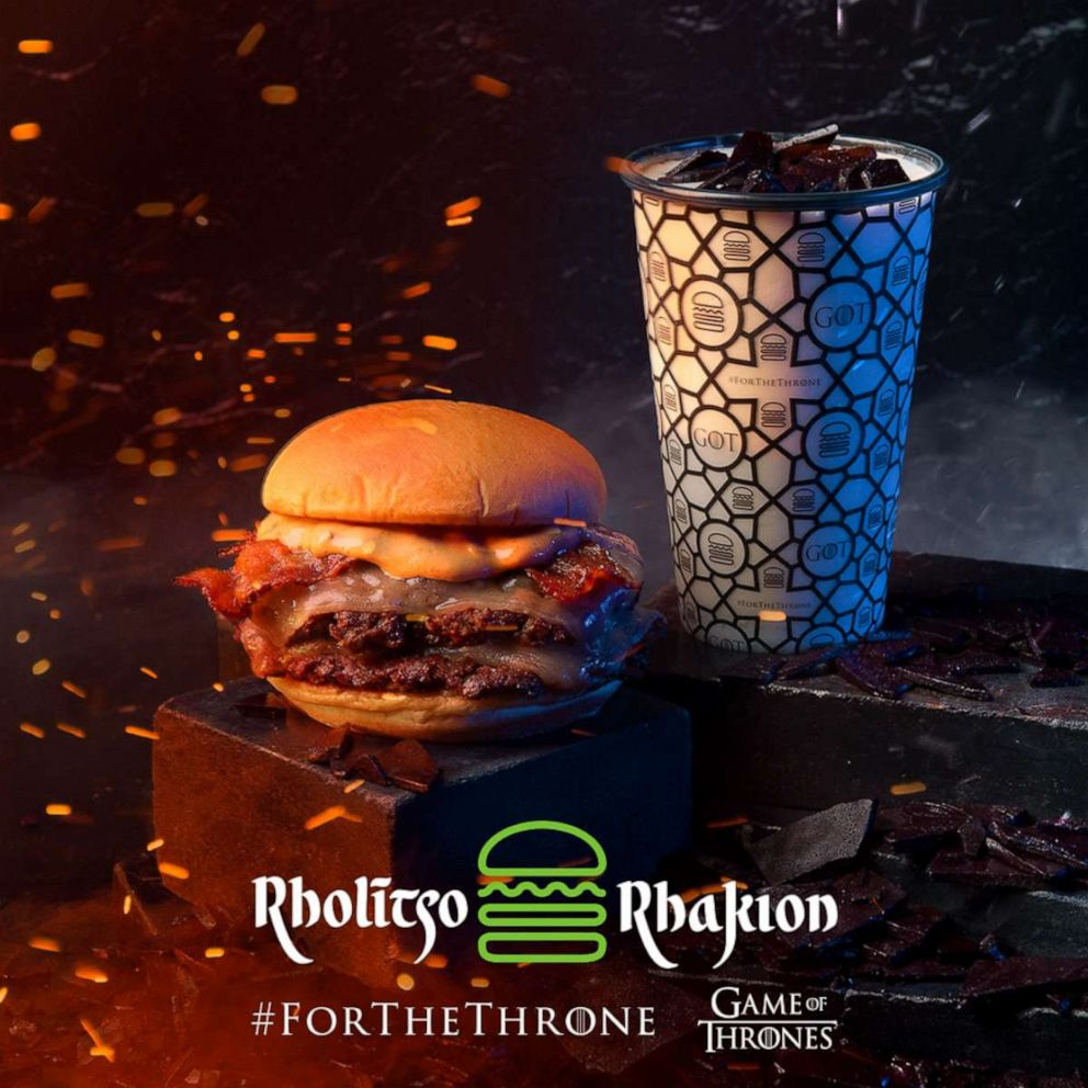 PHOTO: Shake Shacks new Valyrian-inspired burger and shake ahead of the Game of Thrones season premiere.