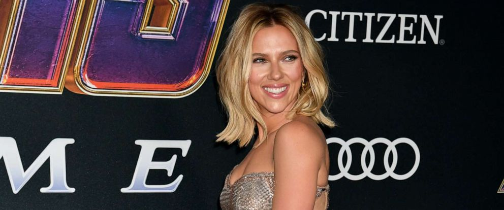 "PHOTO:Scarlett Johansson arrives for the World premiere of Marvel Studios ""Avengers: Endgame"" at the Los Angeles Convention Center on April 22, 2019 in Los Angeles."