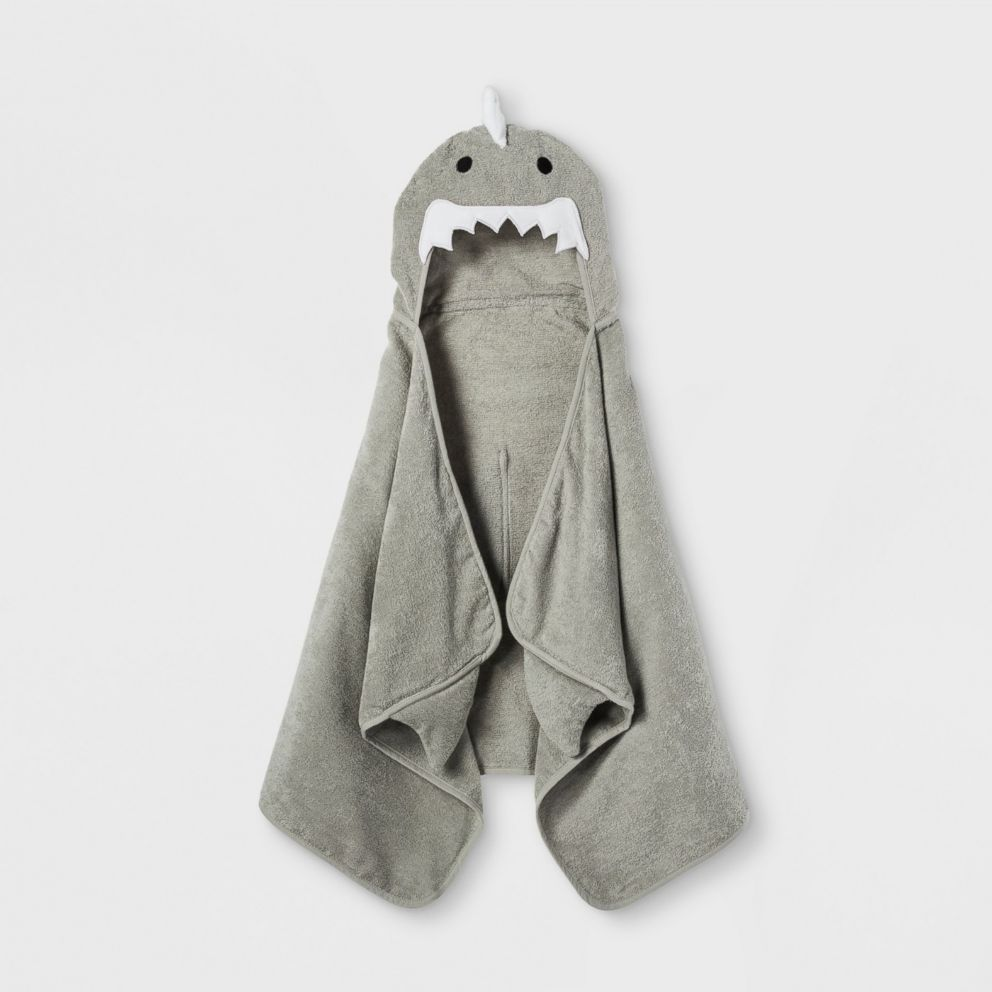 PHOTO: Shark Hooded Bath Towel Gray Marble