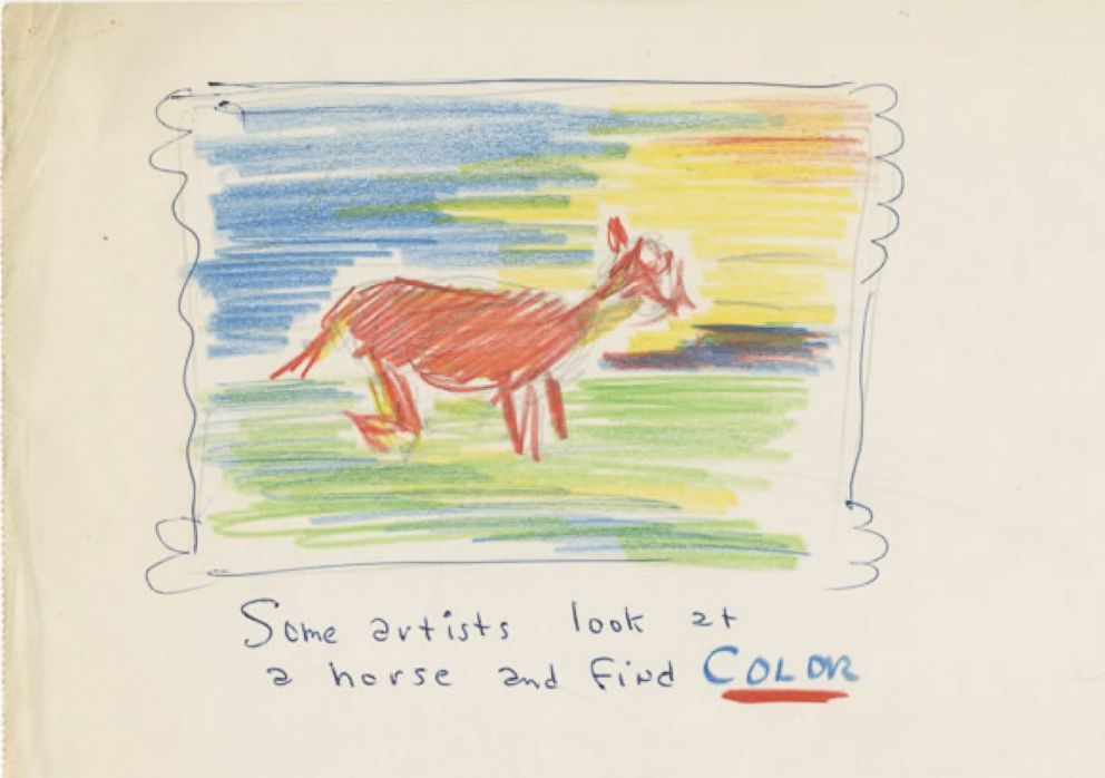 PHOTO: n original Dr. Seuss sketch is pictured here.