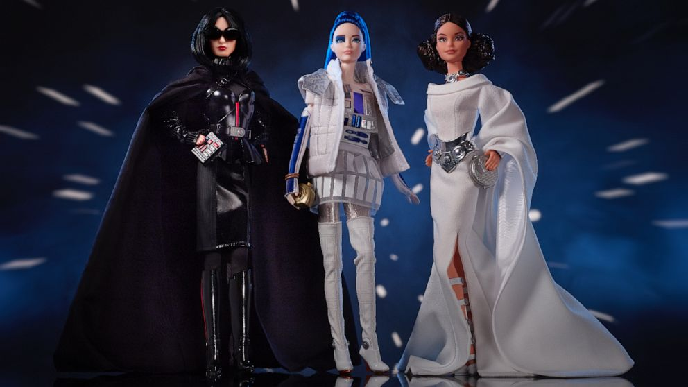 'Star Wars'-themed Barbie dolls debut and the force is strong with them