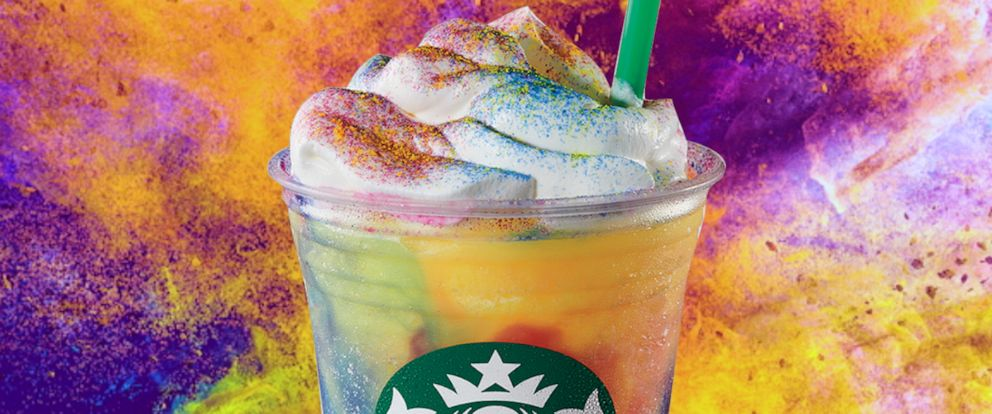 PHOTO: Starbucks new tie-dye frappucino is here for a limited time.