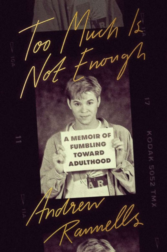 "Andrew Rannells' new memoir book cover ""Too Much is Not Enough."""