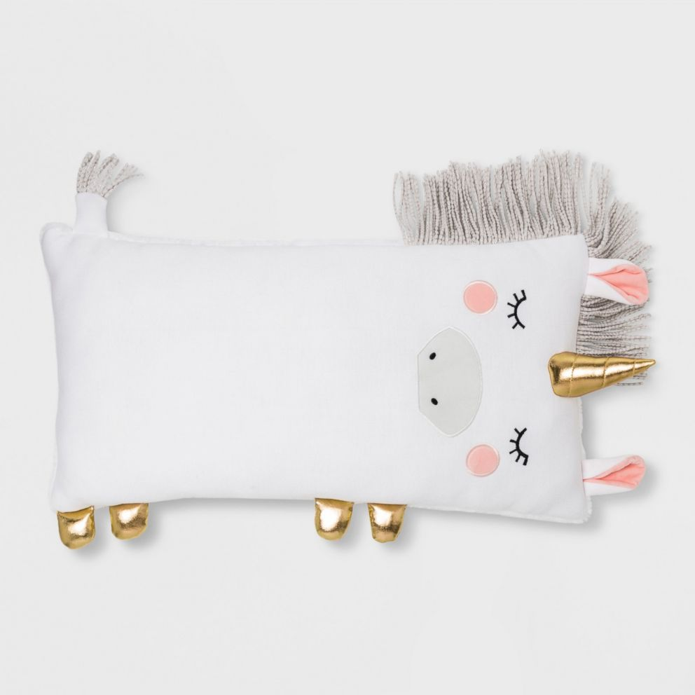 PHOTO: Unicorn Body Pillow White