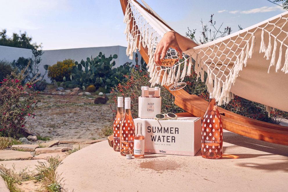 PHOTO: The 2018 vintage of Summer Water rose bottles and mini shareable bottles from Winc.