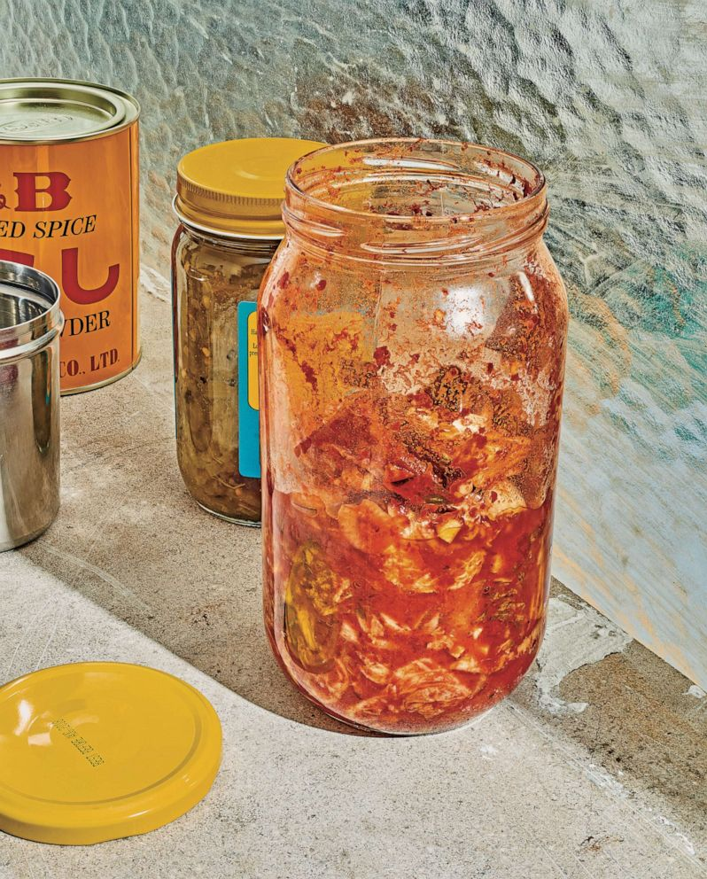 PHOTO: Kitchen scrap kimchi is a spicy, tangy fermented condiment that can stretch the life of vegetables.