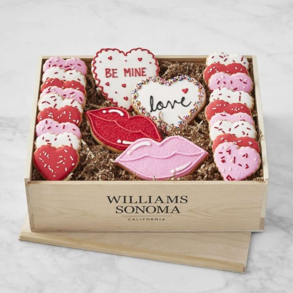 PHOTO: The Valentines Day cookie gift crate is available for a limited time from Williams-Sonoma.