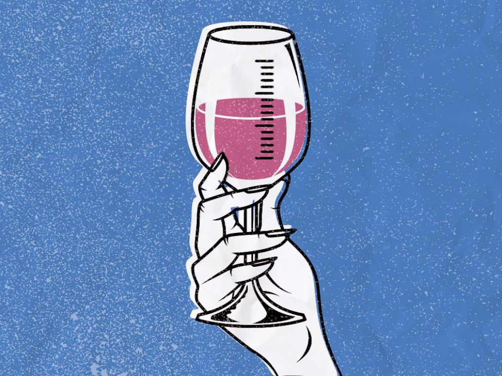 PHOTO: Wine Glas Measuring Illustration