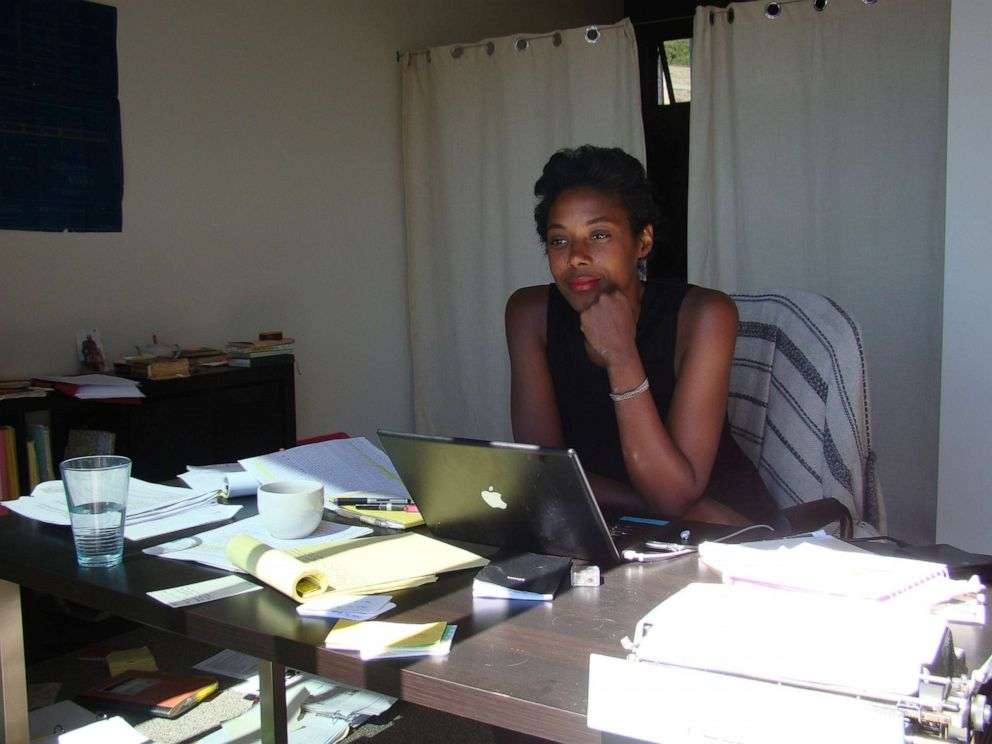 PHOTO: Author Sarah M. Broom is pictured here working on her book, The Yellow House.